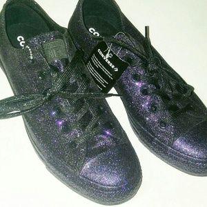 💎NWOB Converse Dark Purple Glitter Sneakers